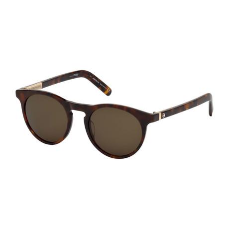 Montblanc // Men's Round Sunglasses // Dark Havana + Roviex