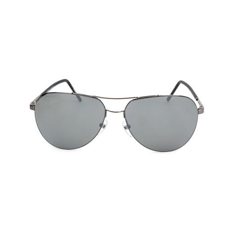 Montblanc Men's Super Thin Aviator Sunglasses // Gunmetal + Gray