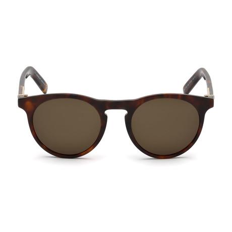 Montblanc Men's Round Sunglasses // Dark Havana+ Roviex