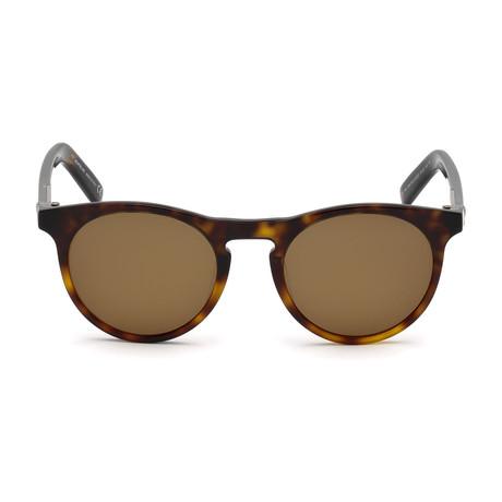 Montblanc Men's Round Sunglasses // Havana+ Roviex Polarized