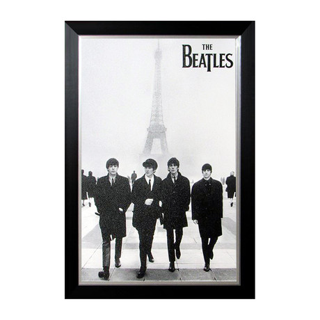 The Beatles // Custom Framed Print // At The Eiffel Tower