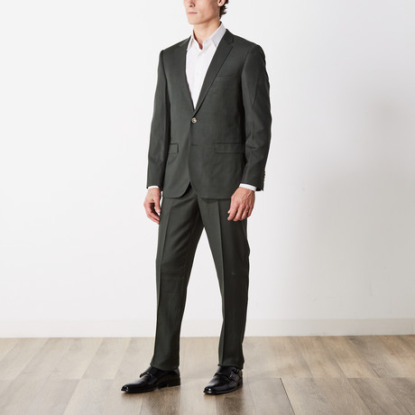 Slim Fit Suit // Green (US: 36S)