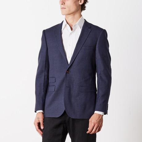 Slim Fit Sport Jacket // Blue + Brown (US: 38S)