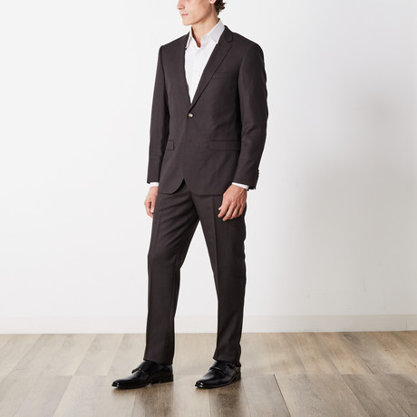 Slim Fit Suit // Brown (US: 36S)