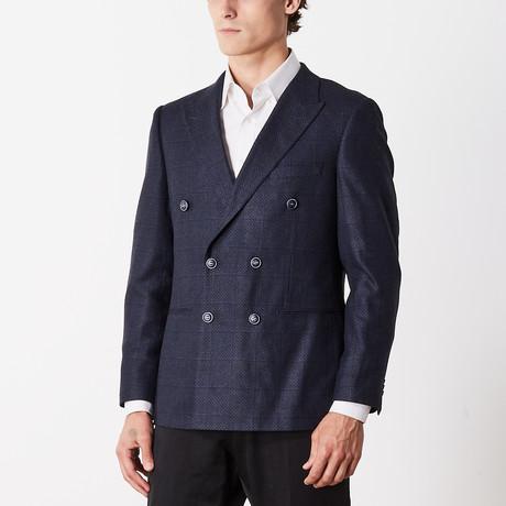 Lux Cashmere Slim Fit Sport Jacket // Dark Blue (US: 38R)