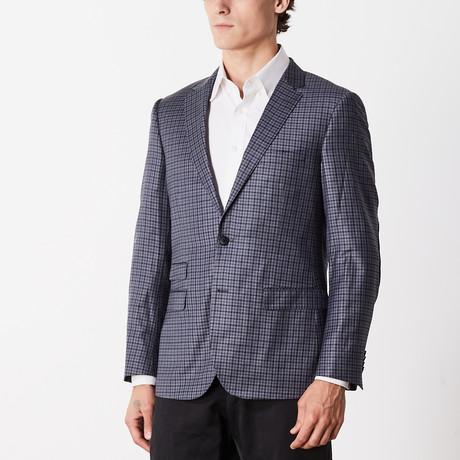 Slim Fit Sport Jacket // Blue + Gray (US: 36S)