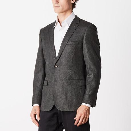 Textured Slim Fit Sport Jacket // Olive (US: 40R)