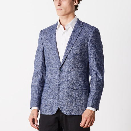Casual Cashmere Slim Fit Sport Jacket // Light Blue (US: 36R)