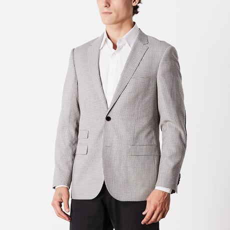 Slim Fit Sport Jacket // Wine + Gray + Beige (US: 38R)
