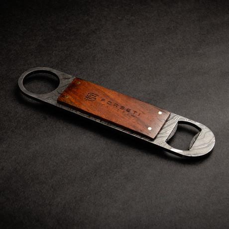 Sommelier Premium Damascus Steel Bottle Opener