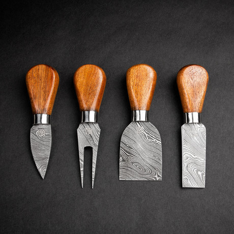 Tout le Fromage Damascus Steel Cheese Knife Set