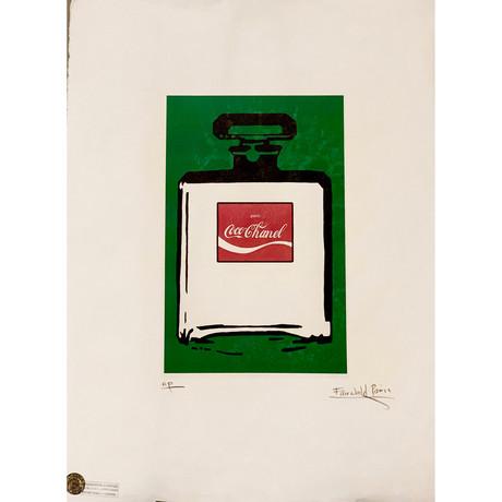 Coco Chanel Bottle // AP print
