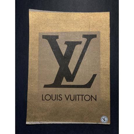 Gold Louis Vuitton Logo