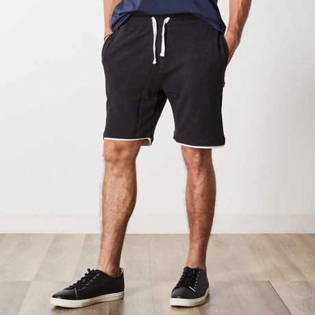 Ashton Color Block Lounge Shorts // Black (S)