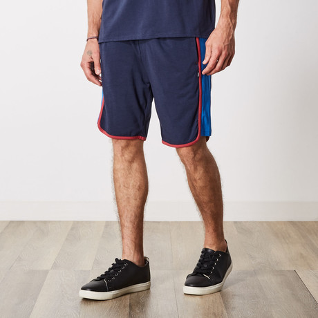 Cameron Color Block Lounge Shorts // Navy Blazer (S)