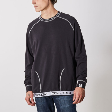 Parker Raglan Long Sleeve Pullover // Black (S)
