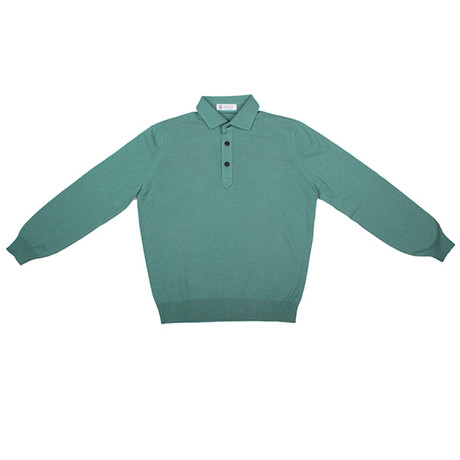 Rhett Cashmere Sweater // Teal (Euro: 46)