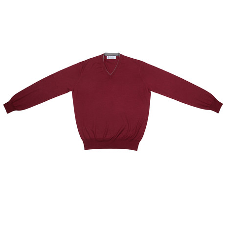 Jorg Cashmere Blend Sweater // Burgundy (Euro: 46)