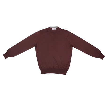 Uwe Cashmere Blend Sweater // Burgundy (Euro: 46)