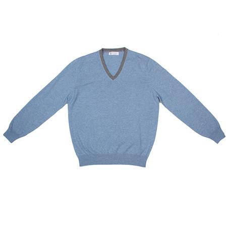 Argento Cashmere Sweater // Blue (Euro: 46)