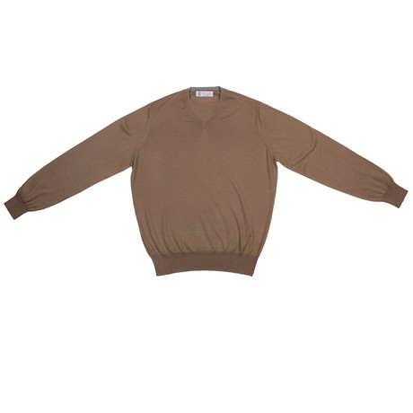 Otto Cashmere Blend Sweater // Tan (Euro: 46)