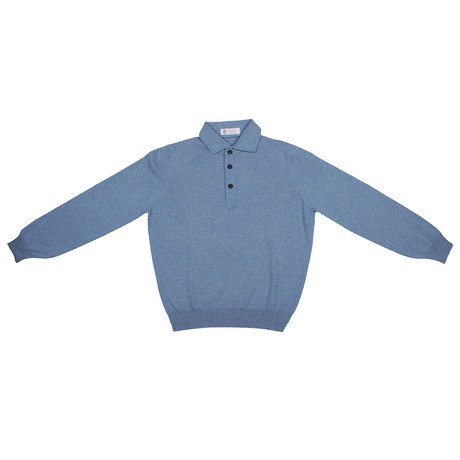 Travon Cashmere Sweater // Blue (Euro: 46)