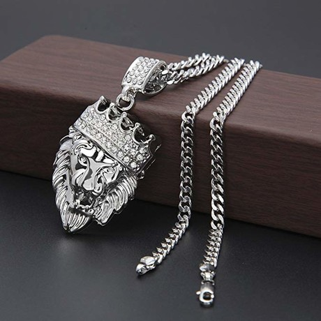 King of the Jungle Necklace // White Gold Plated