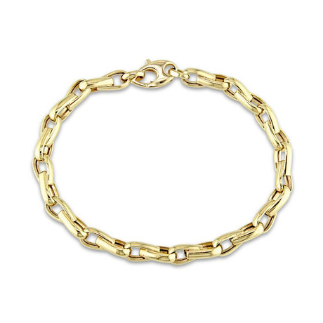 Classical Bicycle Link Chain // 14K Gold + Stainless Steel