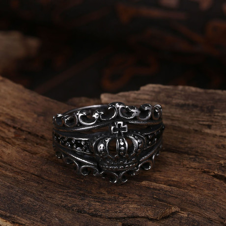 King Crown Ring // Stainless Steel (8)