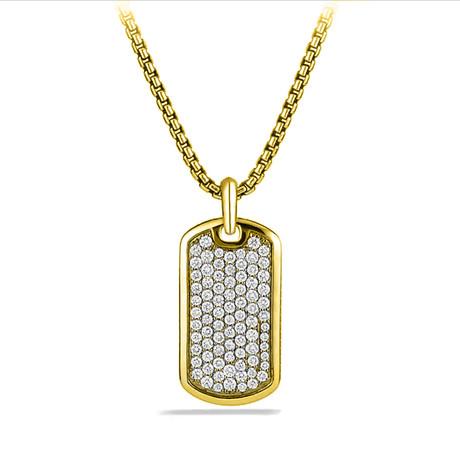 Designer Inspired Pendant Necklace // Gold