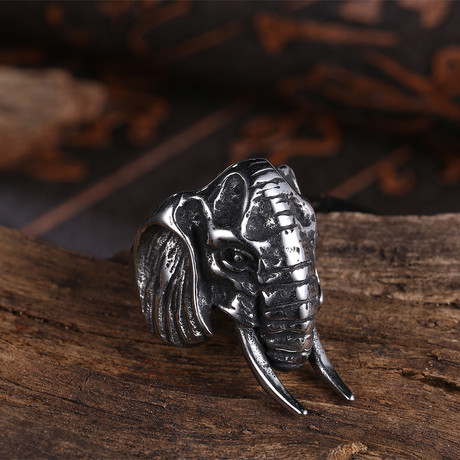 Indian Elephant Ring // Stainless Steel (8)