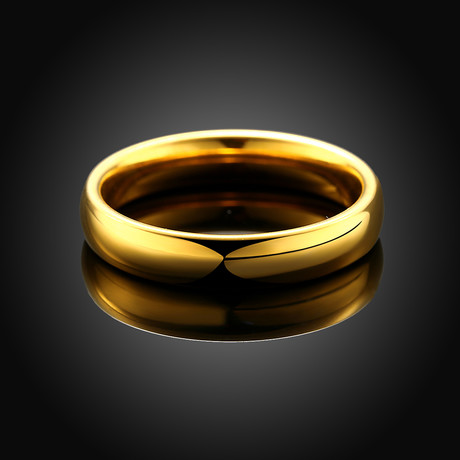 Classic Simple Band Ring // 14K Gold + Stainless Steel (7)