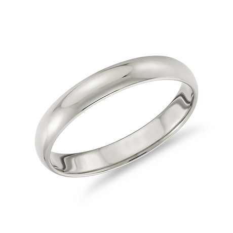 Classic Simple Band Ring // 14K White Gold + Stainless Steel (7)