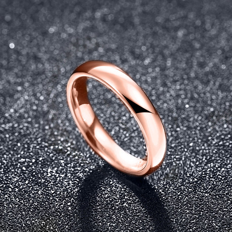 Classic Simple Band Ring // 14K Rose Gold + Stainless Steel (7)