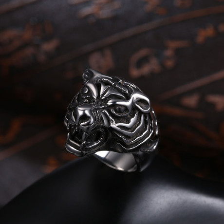 Bengali Tiger Statement Ring // Stainless Steel (7)