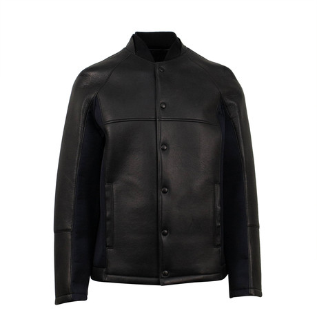 Wool + Leather Jacket // Black (Euro: 50)