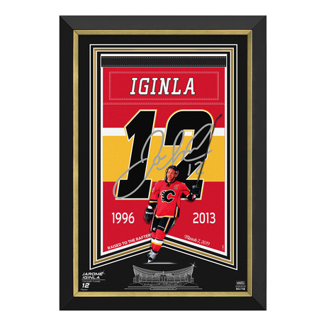 Jarome Iginla // Calgary Flames Arena Banner // Limited Edition Display // Facsimile Signed
