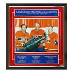 Maurice Richard, Jean Beliveau, + Guy Lafleur // Framed Signed Limited Edition Photo