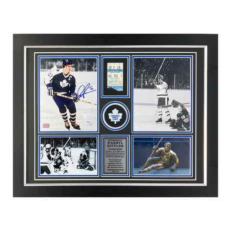 Darryl Sittler Signed 10-Point NHL Record Game Photo // Toronto Maple Leafs // Limited Edition