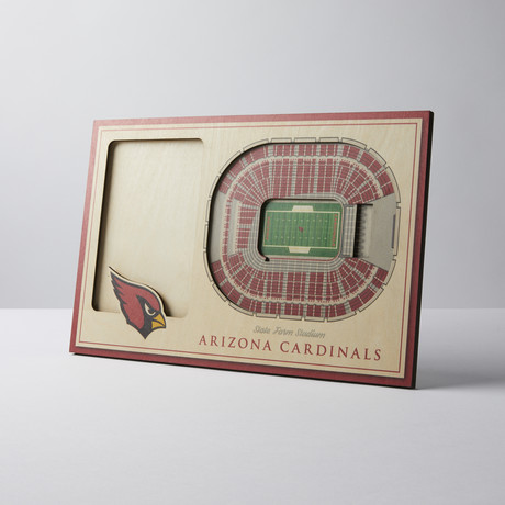 Arizona Cardinals 3D Picture Frame
