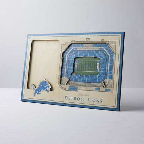 Detroit Lions 3D Picture Frame
