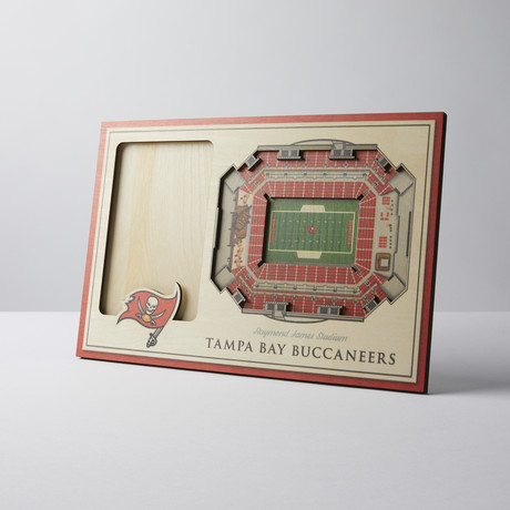 Tampa Bay Buccaneers 3D Picture Frame