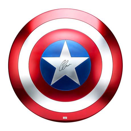 Chris Evans // Captain America // Autographed Prop Replica Shield