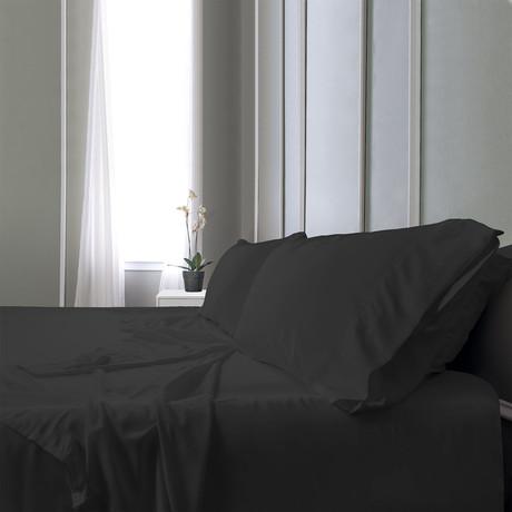 Bamboo Field Bedsheets Dark // Gray (Split King)
