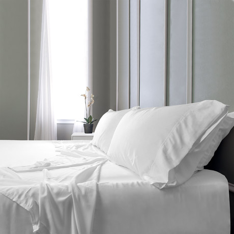 Bamboo Field Bedsheets // White (Twin XL)