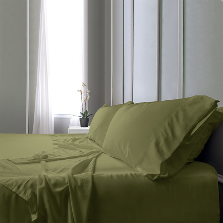 Bamboo Field Bedsheets // Sage Green (Twin XL)