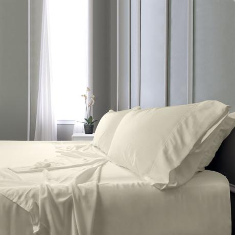 Bamboo Field Bedsheets // Vanilla (Twin XL)