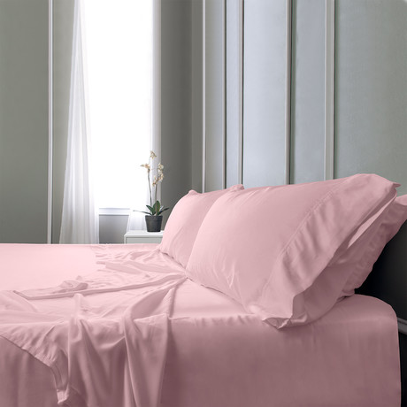 Bamboo Field Bedsheets // Coral (Twin XL)