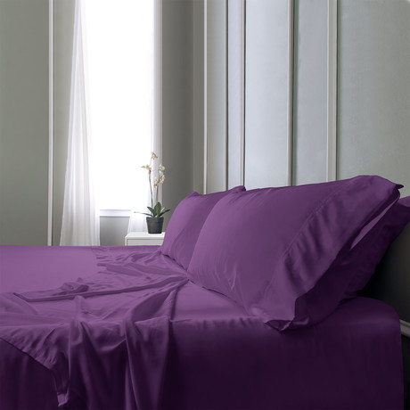 Bamboo Field Bedsheets // Violet // Split King