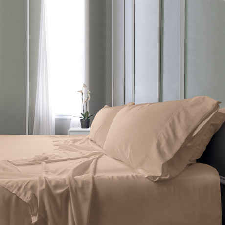 Bamboo Field Bedsheets // Light Beige (Twin XL)